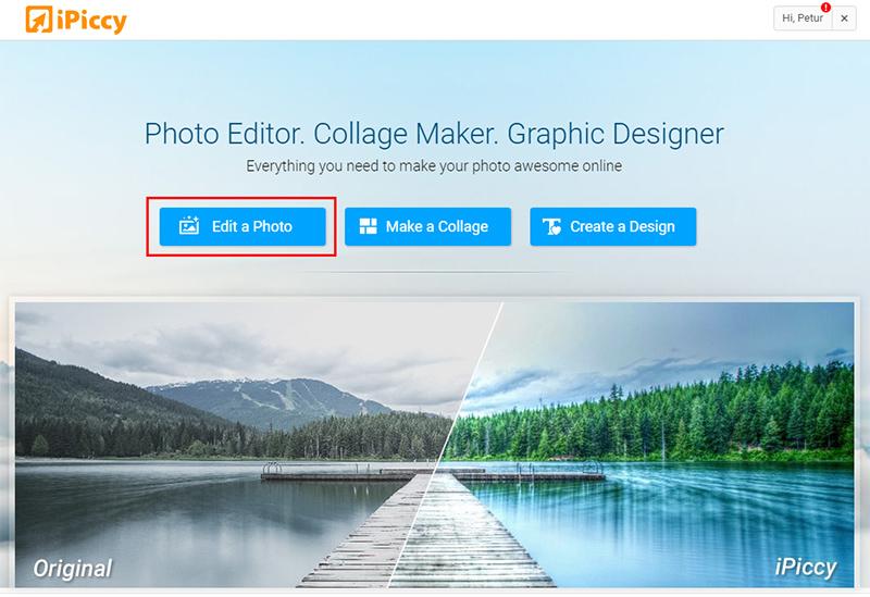 Megfakult színes papírkép hatás iPiccy képszerkesztőben 1